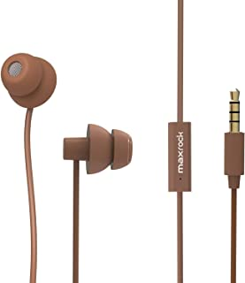 MAXROCK Sleeping Headphones, in-Ear Soundproof Earplug Soft Earbuds with Mic Noise Cancelling Sleep Earphones for Side Sle...