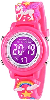 VAPCUFF Best Gift for 2 3 4 5 6 Years Old Girl, Watch for Girls Toddler Toy for 3 4 5 6 7 8 Year Old Girl Best Birthday Gifts for Girls Age 3-9 - Red