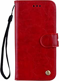 Nadoli Pu Leather Case for Samsung Galaxy A02,Retro Elegant Business Style Noble Flip Wallet Leather Case Shockproof Prote...