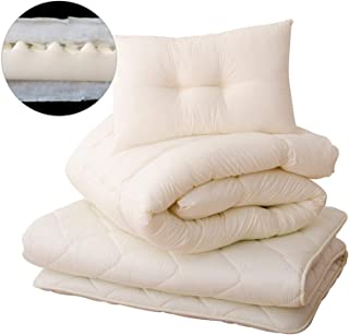 EMOOR Japanese Futon Set CLASSE-Plus (3-Layered), Queen-Long Size. Made in Japan