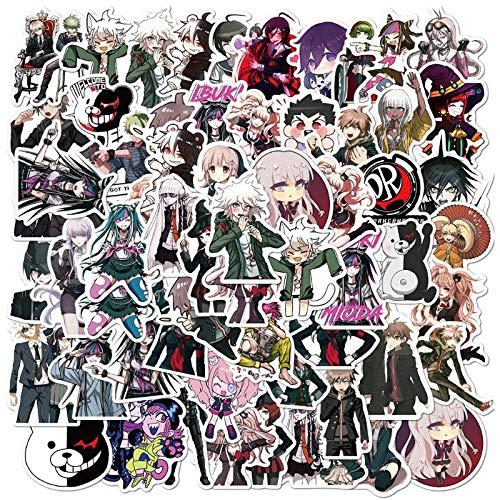 SHUYI Anime Balas en Pegatinas de Graffiti rotas Casco Maleta Gafas de portátil Pegatinas Impermeables 50 Hojas