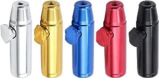 AUTOUTLET 5PCS Metal Bullet Snuffer Sniffer Snorter Nasal Straw Tube Dispenser Kit
