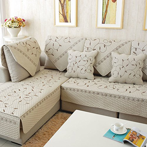 Pour Animal domestique/canapé/Slip couvertures pour canapé 3 Coussin Canapé Slipcover Housses de fauteuil inclinable Canapé couvertures Canapé Ensemble de compagnie 110 x 210 cm (109,2 x 210,8 cm)