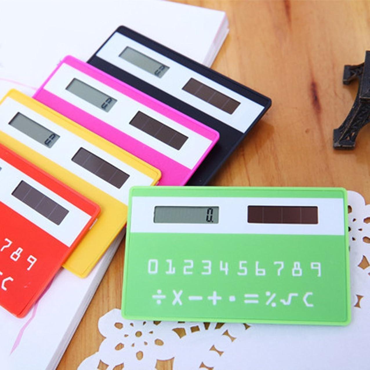 子音敵対的読み書きのできないAlandキュートポケットSolar Powered Mini School電卓シン銀行カード電卓 one size