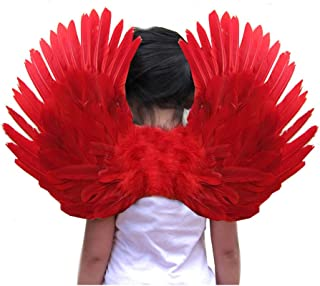 Small Feather Angel Wings for Kids, Girls, or Boys with Free Halo 3 Colors