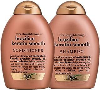 Kit OGX Brazilian Keratin Smooth: 1 Condicionador 250ml + 1 Shampoo 250ml