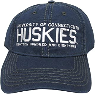 RobsTees University of Connecticut Huskies College Team Strap Back Dad Hat Cap