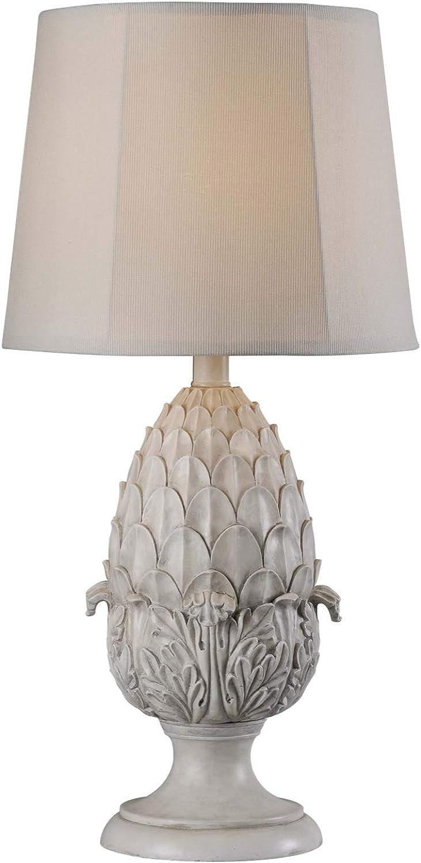Kenroy Home 32487RW Artichoke Outdoor Table Lamp, Roman White Finish, 30  x 15  x 15