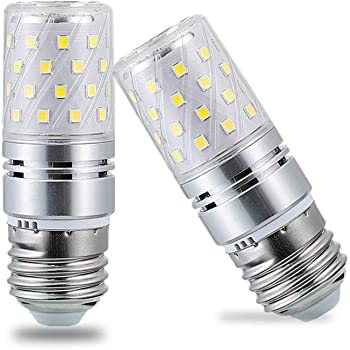 Sauglae Led Corn Bulbs E27 Edison Screw 12w 1200lm 6000k Daylight White Pack Of 4 Amazon Co Uk Lighting