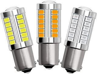 PinShang LED 1156 1157 5730 5630 33SMD Car Tail Bulb Brake Lights Auto Reverse Lamp Daytime Running Light 1156-red Light