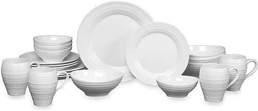 Mikasa Swirl 20-Piece Dinnerware Set in White