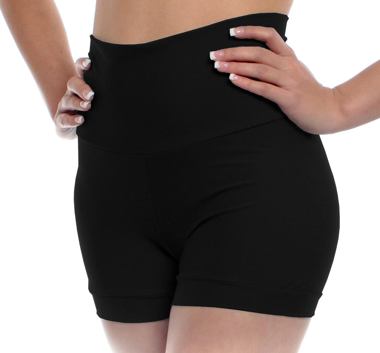 B Dancewear Womens High Waisted Dance Shorts Adult Sizes