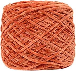 FGDJEE Velvet Yarn 250g Thick Yarn Blanket Yarn Comfy Blend Yarn,Yellow/Blue/Pink/Orange/Light Blue/White/Gray/Cream/Red/Green/Wine Red/Blackish Green (D)