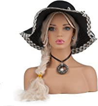 L7 Mannequin PVC Female Mannequin Head for Wig Display Styling Making Earrings Display