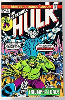 HULK #191, FN/VF, Incredible, Bruce Banner, Toad, Trimpe, 1968, more in store