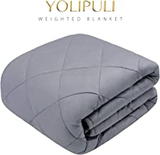 YOLIPULI Weighted Blanket for Adult 17 lbs, 60x80 inches Heavy Blanket with 100% Cooling Glass Beads and Natural Cotton