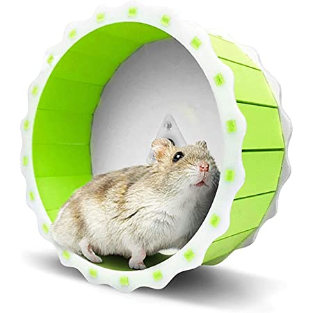 Without Bark LoveAloe Hamster Chew Toys Wooden Toys Accessories Exercise Bell Molar Toy for Bunny Rabbits Gerbils,Bell Wheel