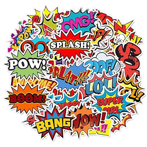 BLOUR 10/30/50 Uds Alfabeto inglés Pegatina Graffiti explosión Nube Personalidad Trolley Case Laptop Scooter decoración al por Mayor
