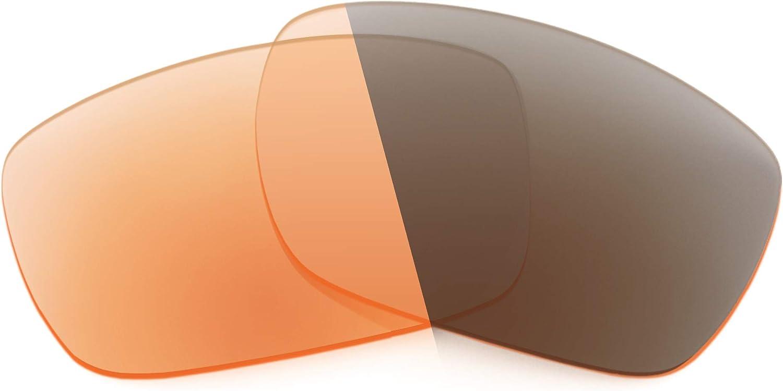 Revant Verres de Rechange pour Oakley Tinfoil - Compatibles avec les Lunettes de Soleil Oakley Tinfoil Photochromique Orange Adaptatif Nonpolarisés Elite