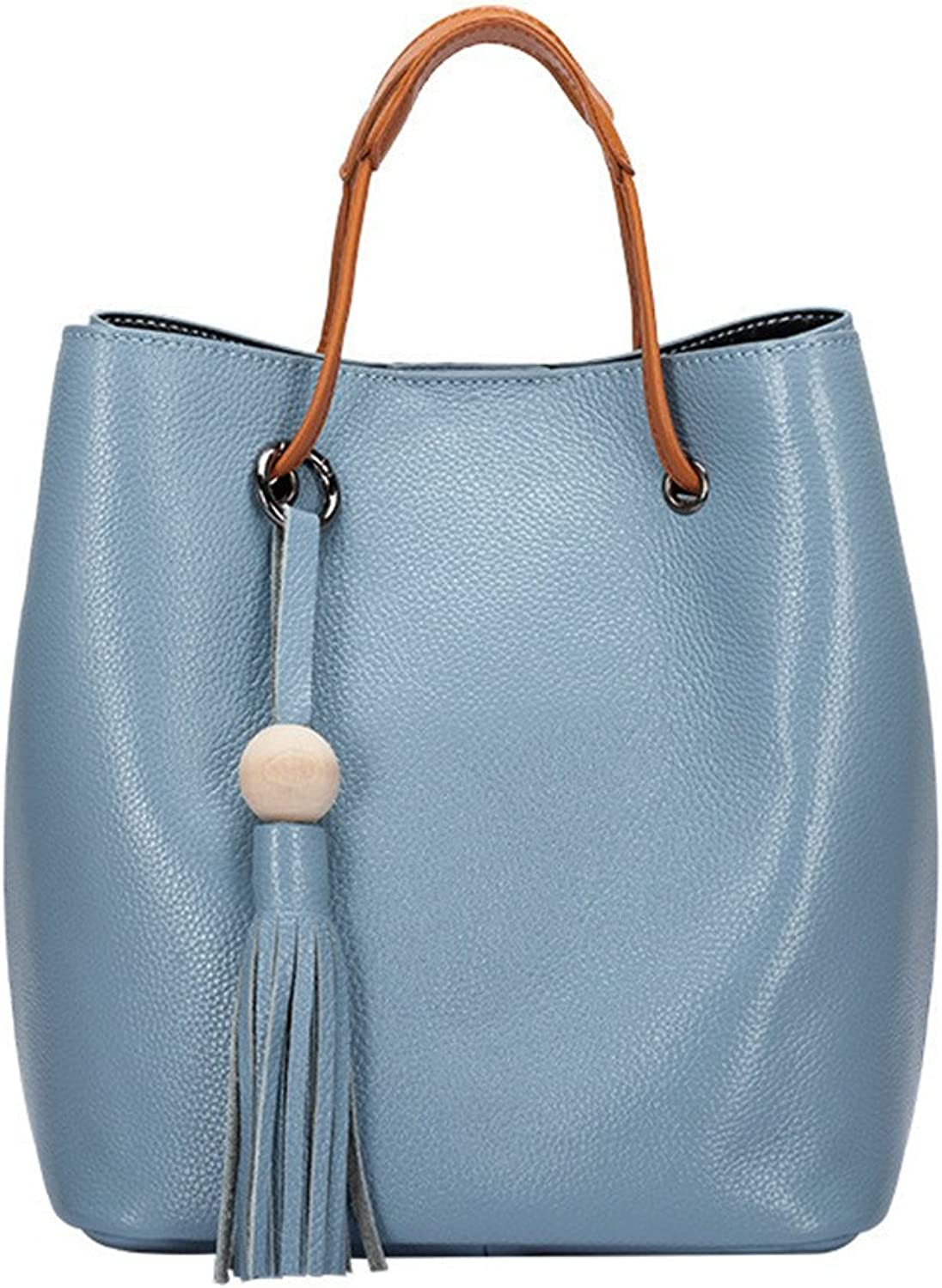 CCBubble 2 Piece Genuine Leather Bucket Bag for Women Shoulder Crossbody Bags