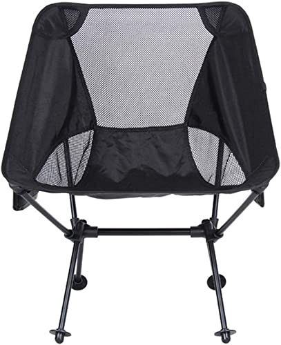 JLBao Chaise de Camping de Loisir, Oxford 600D, Aluminium Aviation, Charge maximale 150 kg, Convient à la Nature, Plage,noir
