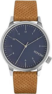 KOMONO Unisex KOM-W2000 Winston Analog Display Japanese Quartz Brown Watch