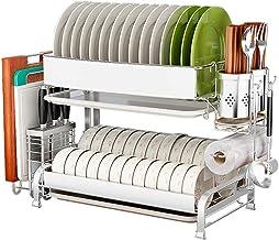 Tableware Storage, Drain Rack/Dish Rack Drainer with Tray Drain Rack Kitchen Kitchen Storage Rack Cutlery Rack Drying (Size : 44cm)