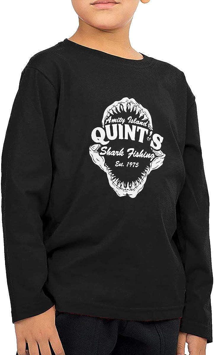 Quint's Shark Fishing Boys Girl Fashion ChildLong Sleeve T-Shirt Long Sleeve Shirt