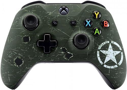 eXtremeRate Coque Avant,Boîtier Housse de Remplacement pour Xbox One X/S Manette Contrôleur(Modèle 1708)-Armée Améric...