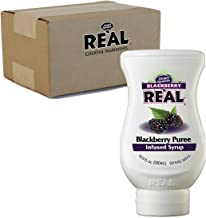 Blackberry Reàl, Blackberry Puree Infused Syrup, 16.9 FL OZ Squeezable Bottle (Pack of 1)