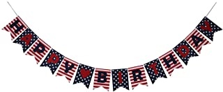 Stars and Stripes Happy Birthday Banner, National Flag Style Banner for Birthday Party,Party Decorations