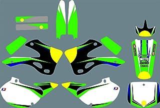 DST0674 Custom Kawasaki Motorrad Aufkleber Kit Motorcross Grafik Dirt Bike Aufkleber für Kawasaki KX125 KX250 1999 2000 2001 2002 3M Adhesive Decals