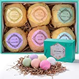 Aprilis Bath Bombs Gift Set, Organic & Natural Essential Oil Bath...