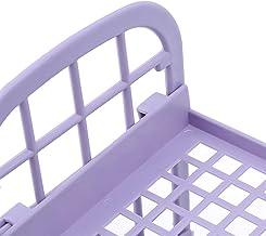Hengxing Dubbele laag cosmetische rek cosmetische borstel opbergdoos cosmetische display case, paars