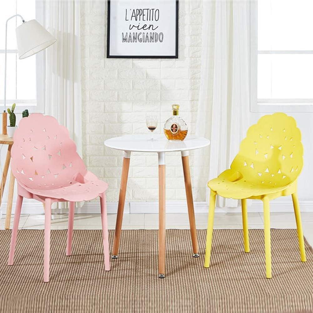 WEIZI Chaise de Salle à Manger Chaise empilable Chaise en Plastique Moderne Chaise de Patio extérieur Chaise de Jardin Chaise de café pour Chaise intérieure extérieure Blanc Pink