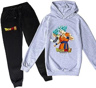 ZKDT Sudadera con capucha unisex de Dragon Ball Goku con estampado de Goku y sudadera de manga larga y pantalón de chándal...