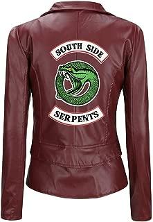 Snake Lady PU Leather Jacket American Drama Jacket Slim Short Leather Jacket,B,L