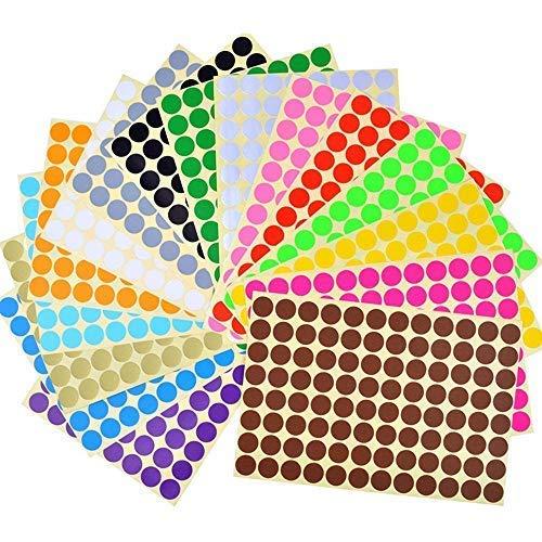 Etiquetas Adhesivas Redondas Colores Marca Febbya