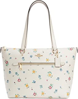 Coach Gallery Tote With Wild Meadow Print C4251 Im/Chalk Multi