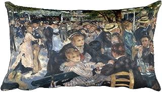 Pierre-August Renoir's Bal du moulin de la Galette 0015 - Rectangular Pillow Case w/ stuffing