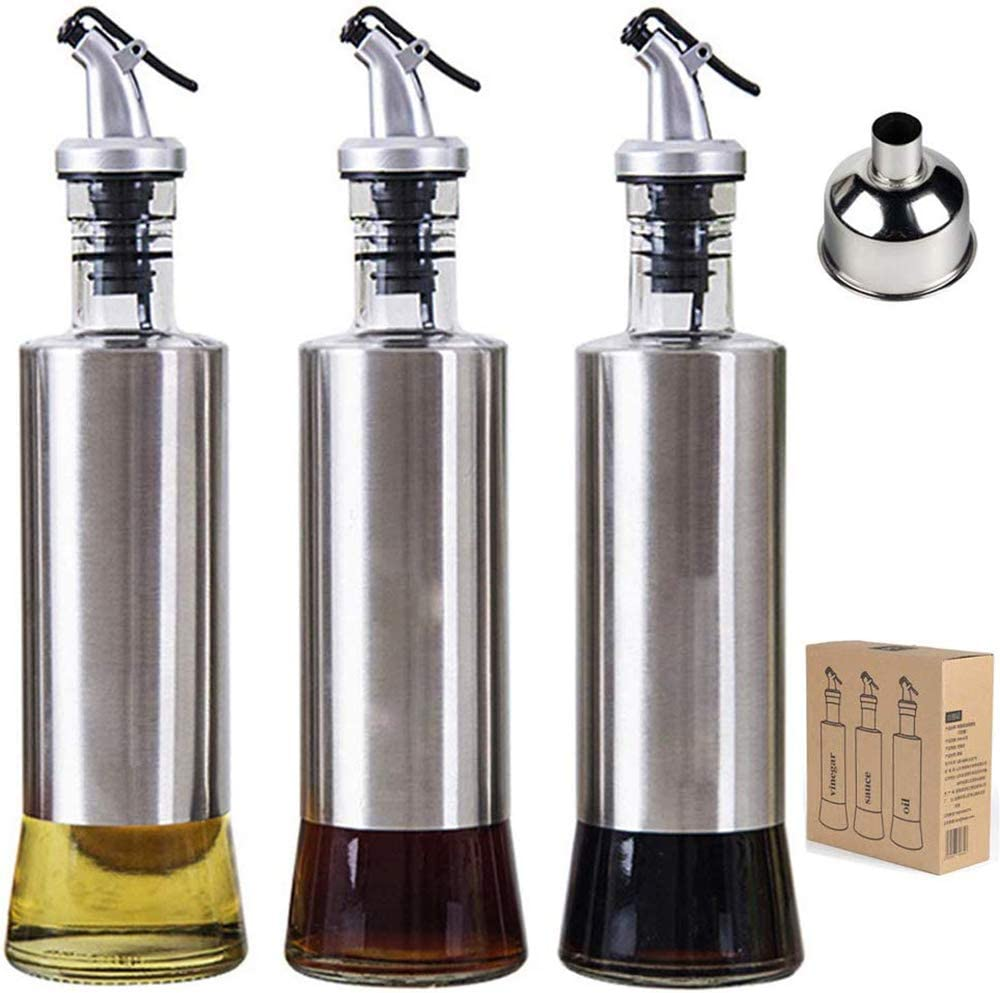 Olive Oil Bottle Rare Genuine Free Shipping Vinegar and Dispenser Sauce 11ounce 300millil