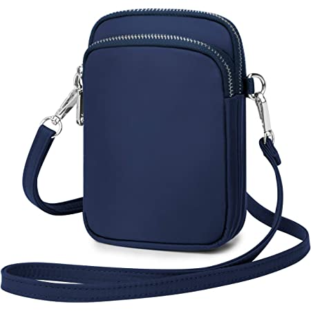 Wind Took Mini Bolso Para Movil Bandolera Mujer Bolso Pequeño Bolso Monedero Movil Mujer Celular Cruzado Bolsa De Tarjeta Bancaria Crossbody 11x 5 x 17cm Azul