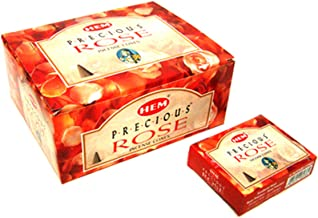 Precious Rose - Case of 12 Boxes, 10 Cones Each - HEM Incense From India