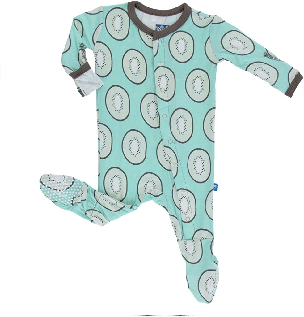 KicKee Pants Baby-boys Infant Solid Footie