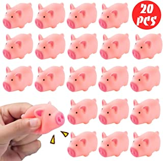 POPLAY Rubber Pig Baby Bath Toy for Kid,20 PCS