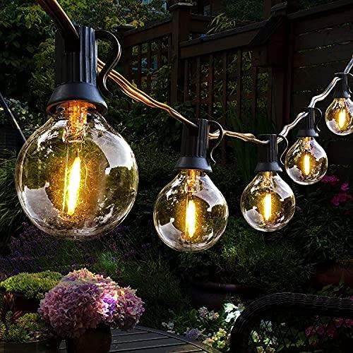 Lichterkette Außen, Hidixon G40 9.8M LED Lichterkette Glühbirnen Aussen Strom mit 25+1 E12 Kunststoff Birnen, Wasserdicht Outdoor Lichterketten für Garten, Terrasse, Weihnachten, Hochzeiten, Partys