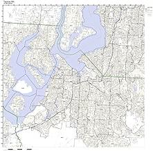 Tacoma, WA ZIP Code Map Laminated