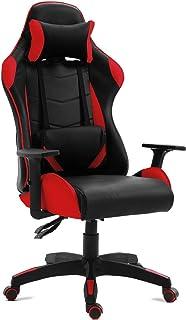 Sedia da ufficio gaming poltrona studio scrivania reclinabile girevole Grigia, Blu, Rosso -McHaus