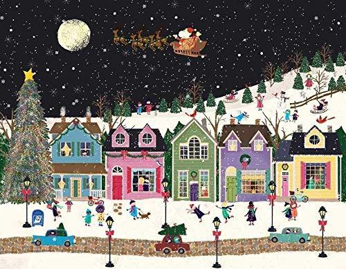 Rompecabezas clásicos 1000 Piezas Rompecabezas para Adultos Rompecabezas de Madera Estrella de Navidad Galletas Ocio y Entretenimiento 29X19In-500 Piezas_1080