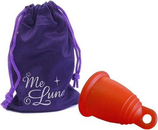 MeLuna - Copa menstrual Roja, Classic, Anillo, Talla- S